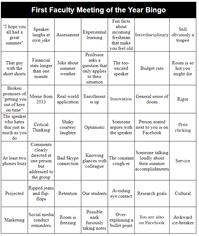 picture relating to Back to School Bingo Printable named Fill Out This Bingo Card Through Your Initially University Conference