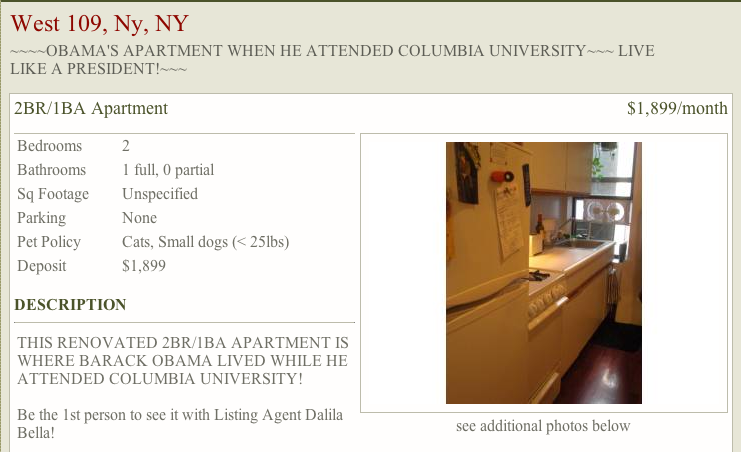 For Rent: Obama's College Crib – Tweed - Blogs - The