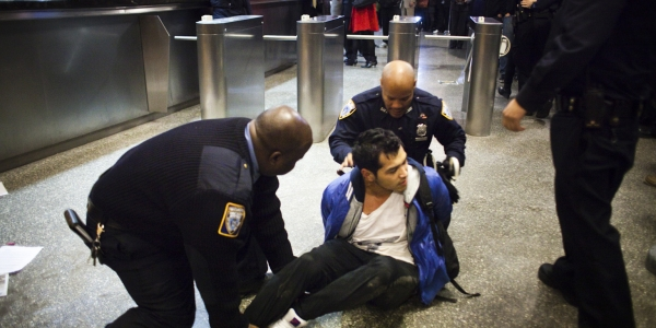 At Baruch College, Tuition Protests End in Confrontation and Arrests 1