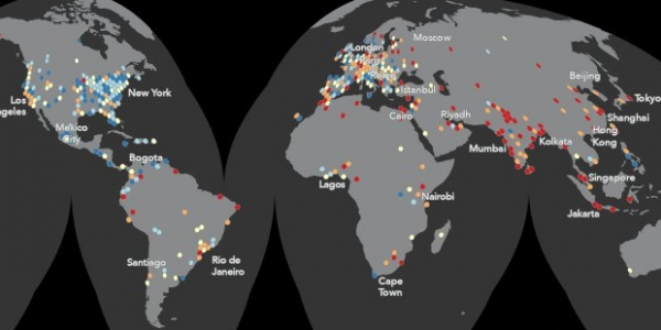 Mapping a MOOC Reveals Global Patterns in Student Engagement