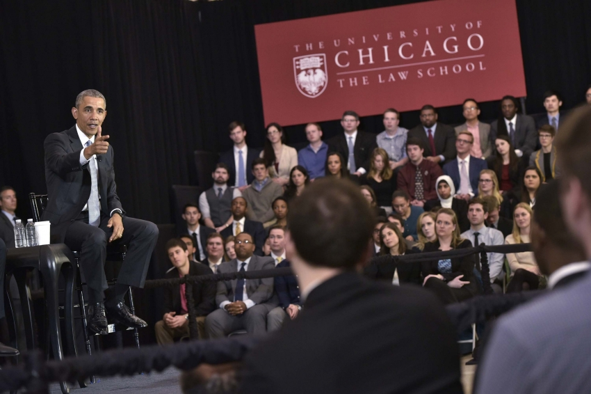 barack obama needs a new job so we sent around his academic rsum