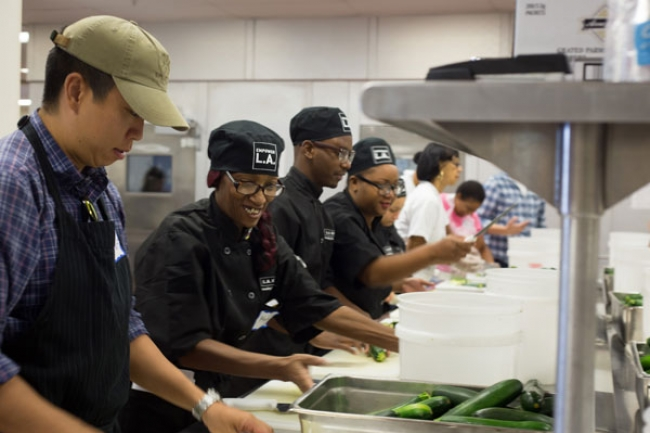 la kitchen is part nonprofit part social business with a multipronged multigenerational mission to reduce food waste and unemployment while combating - Dc Central Kitchen