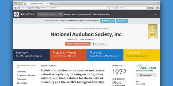 GuideStar Redesigns Charity Profiles to Emphasize Results
