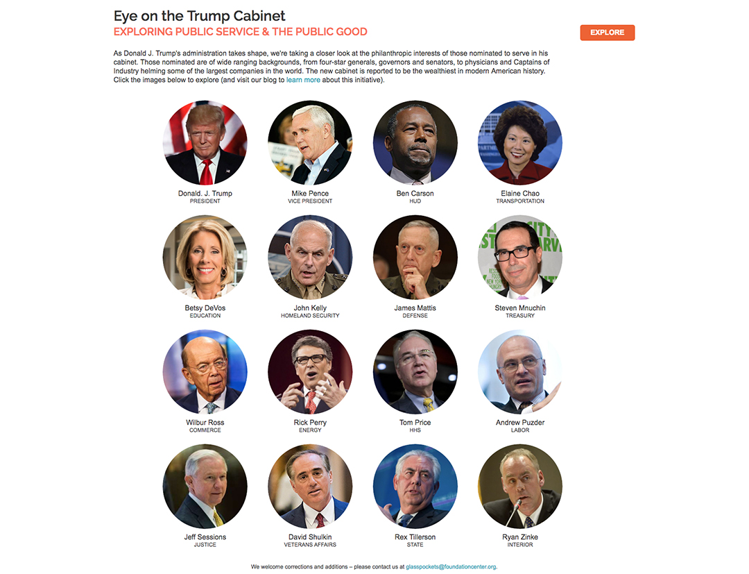 Trump Cabinet's Philanthropic Ties Detailed in New Online Resource ...